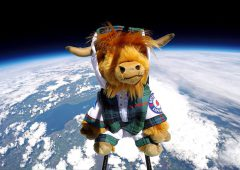 WATCH: Scottish tourist board sends Highland Cow into space