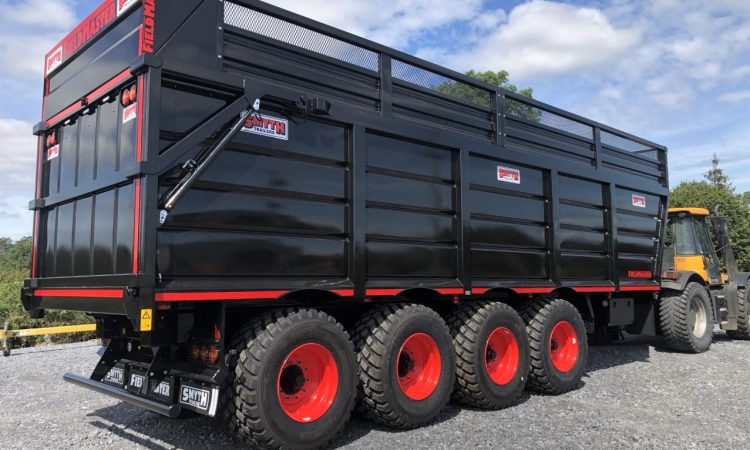 Giant 4-axle silage trailer rolls out of Irish factory