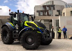 Rural crime tractor ends tour at Scottish Parliament