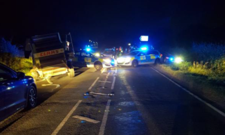 Police stop stolen tractor after 25-minute chase…at 14 miles/hour