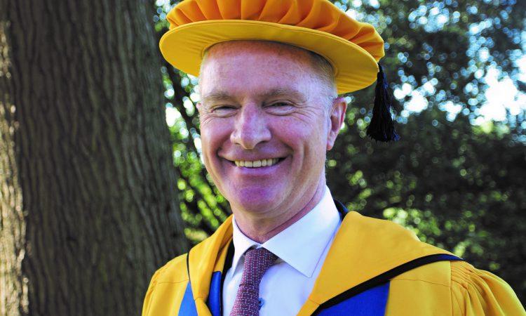 Devenish chairman receives honorary degree from Harper Adams University