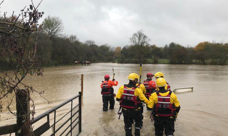 RSPCA emergency water rescue teams on high alert as heavy rain falls across UK