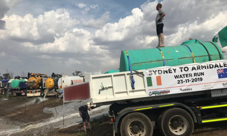 Irish expats drive 900,000L of water to drought-stricken Aussie farmers