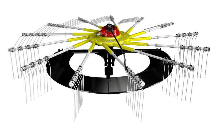 Why not replace your rake's 'jockey wheel' with a plastic 'slide'?