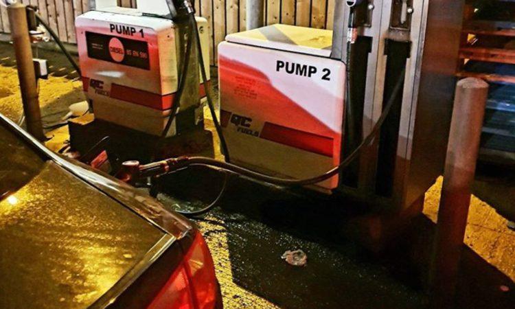 Driver caught 'red handed' pumping agri diesel at forecourt