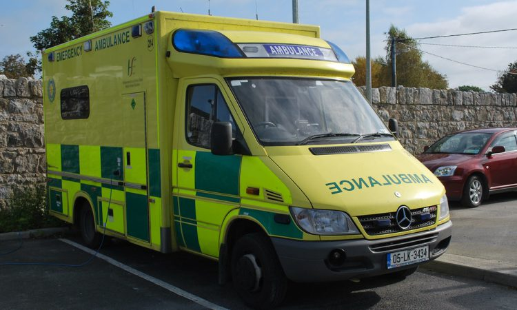 2 taken to hospital following collision involving tractor