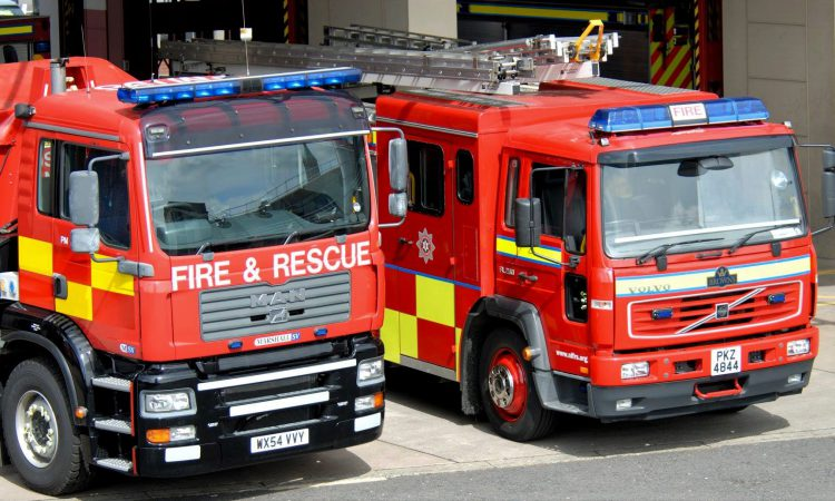 Investigations into arson following shed fire