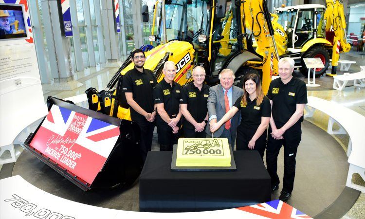 A glance back in time as 750,000th JCB backhoe rolls off production line