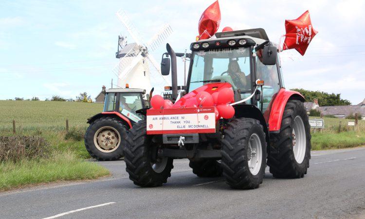 Post-lockdown tractor run raises £9,000 for Air Ambulance NI