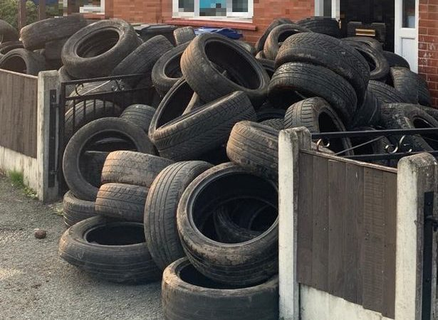 Farmer takes revenge on 'flytipper' who dumped over 400 tyres on his land