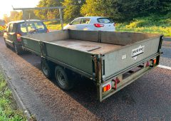 Towing trailer spells trouble for driver