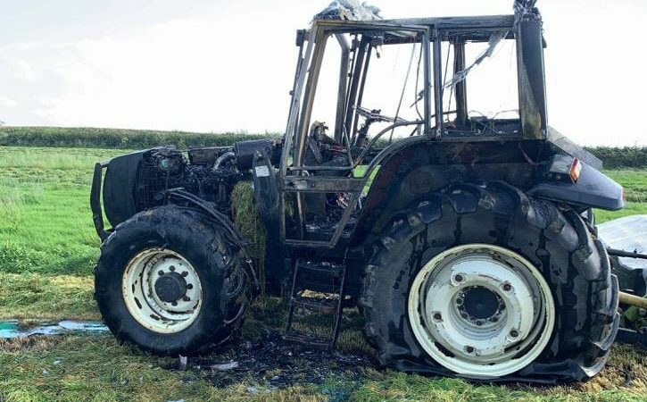 Fire crews called to deal with tractor fire in Cornwall