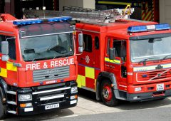 Firefighters called to the scene of blazing barn