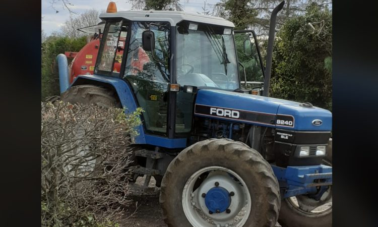 Appeal for info made following theft of Ford tractor