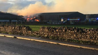 160 cows evacuated to safety after barn catches fire in Cumbria