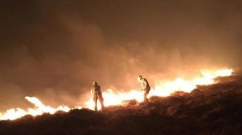 2 major wildfires being fought by fire crews in Dartmoor and Bodmin Moor