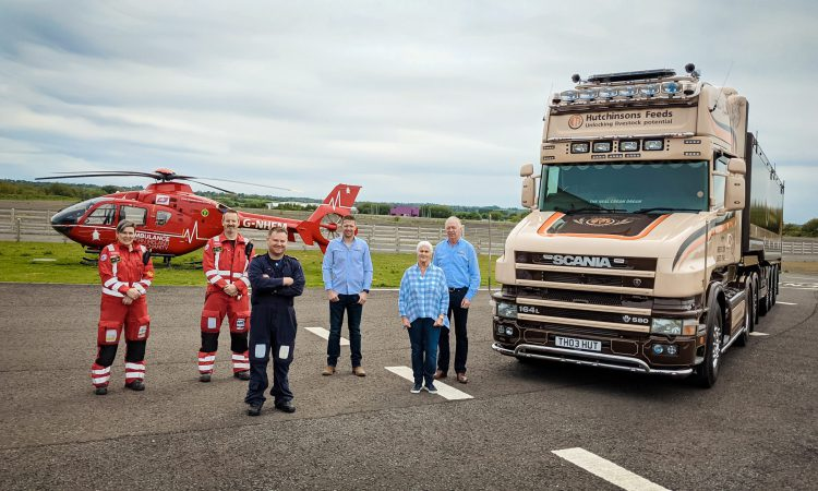 Hutchinson Feeds announces 3-year commitment to Air Ambulance NI