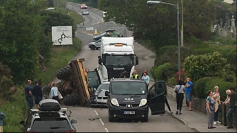 Tractor rolls over onto car in Cornwall road traffic collision