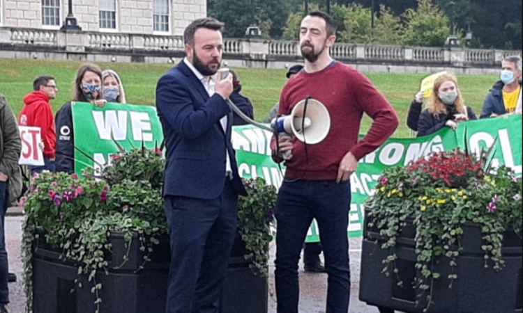 'If Stormont collapses, so will NI's Climate Bill', protesters warn