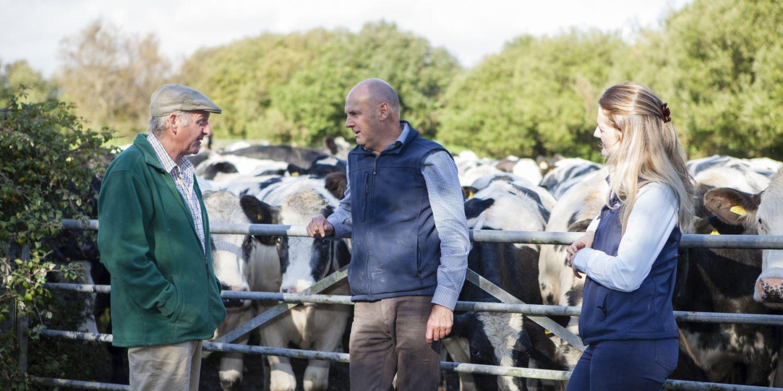 Tech Team and farmer