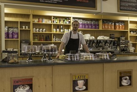 A wide range of refreshments are available at Cafe Ambio