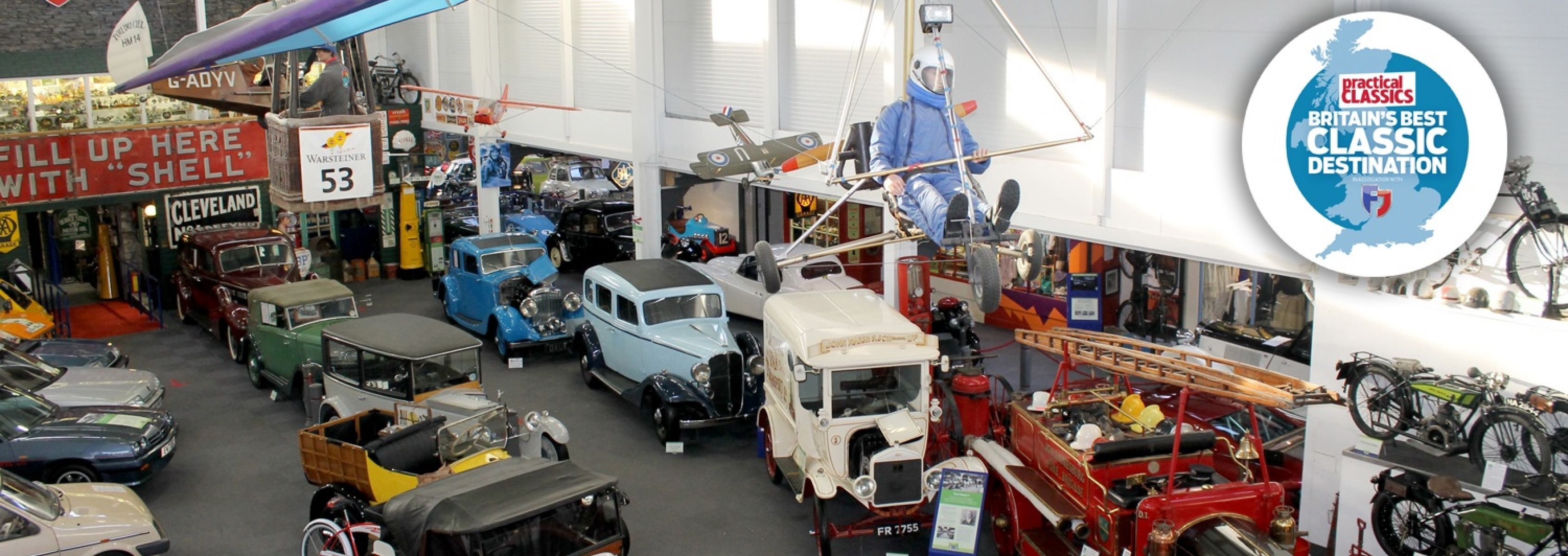 <p>A fascinating collection of some 30,000 exhibits which trace the development of road transport throughout the twentieth century - motor cars, motorbikes, cycles and automobila.</p>