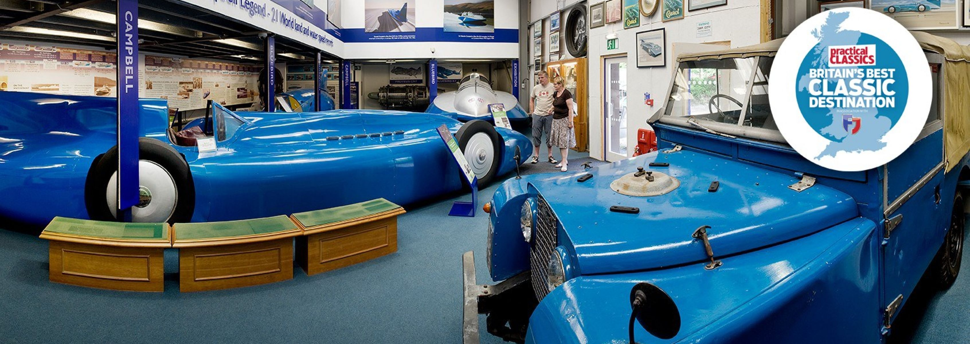 <p>Visit our tribute to the racing Campbells, Sir Malcolm and son Donald, who between them captured 21 world land and water speed records for Great Britain, in the Bluebird series of cars and boats.</p>