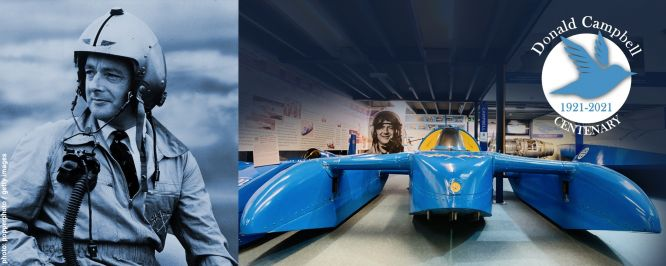 An image of Donald Campbell and his K7 hydroplane