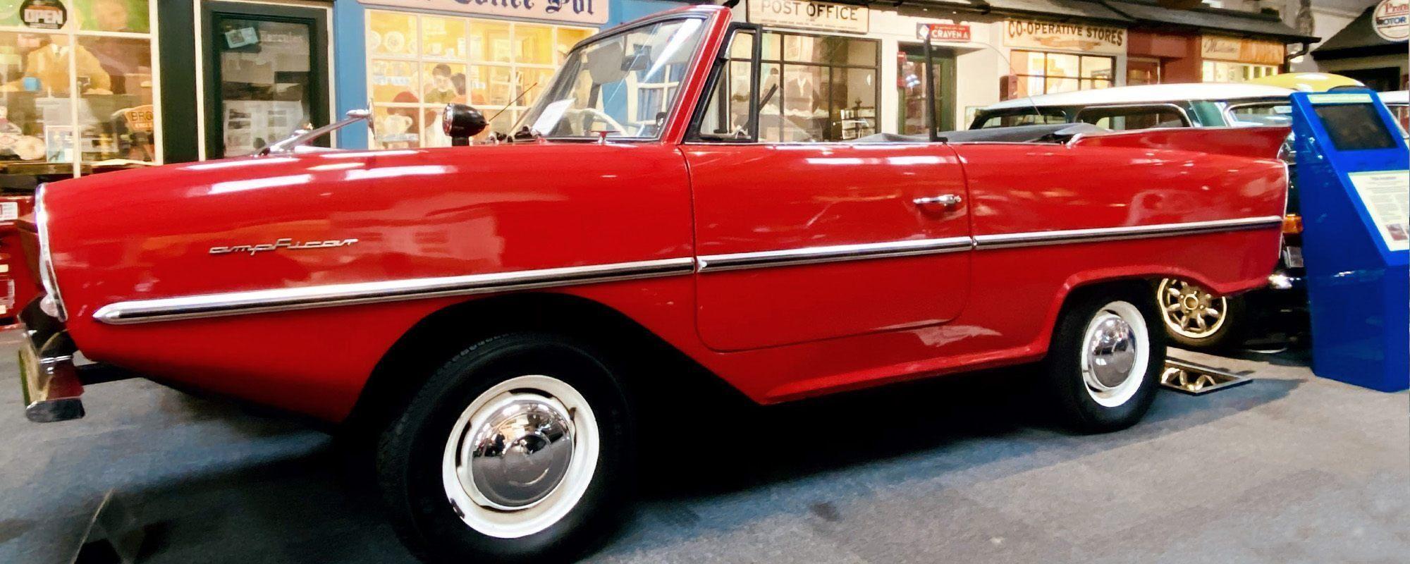 Amphicar in pride of place at Lakeland Motor Museum