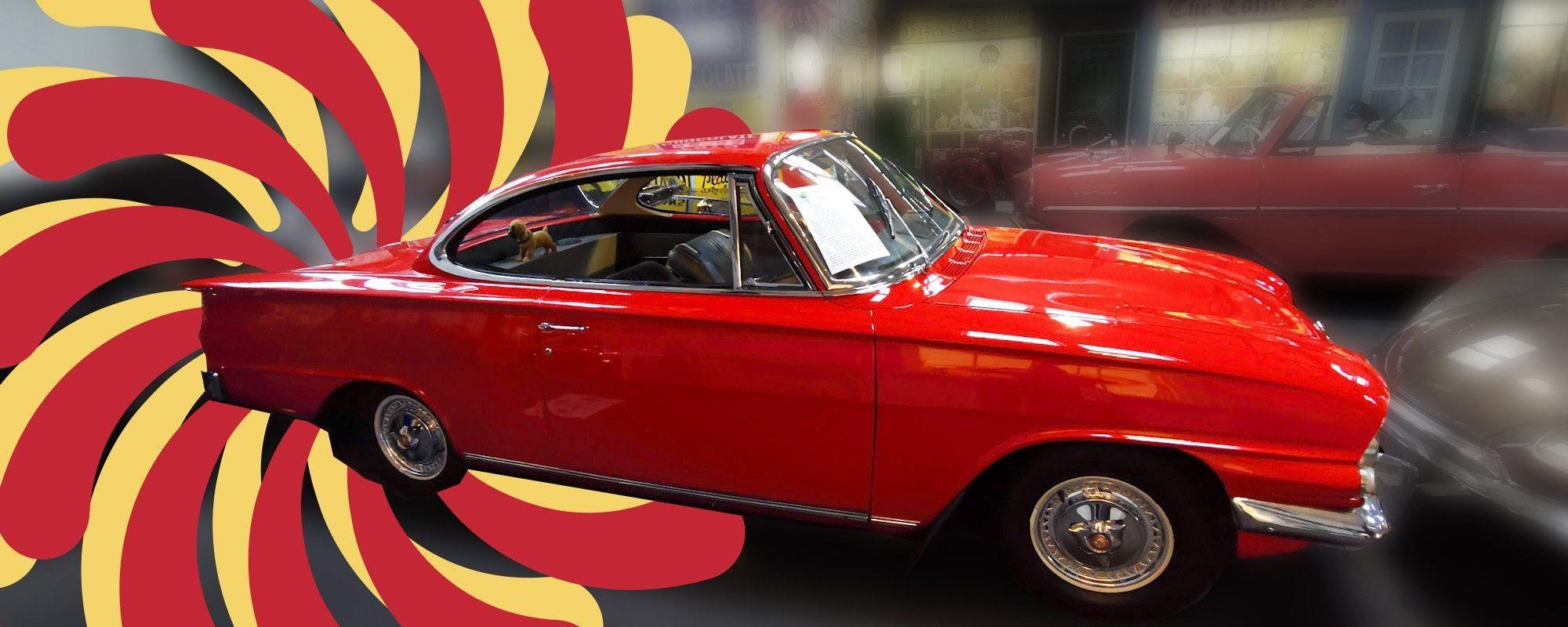 Ford Consul Capri with 60s graphics