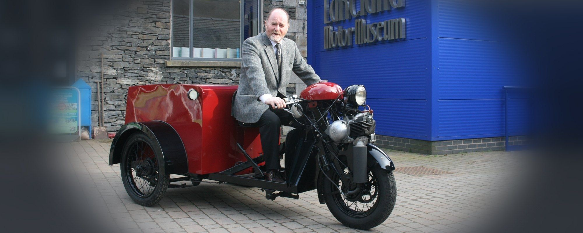 Our museum chairman Bill Bewley on the tri-van