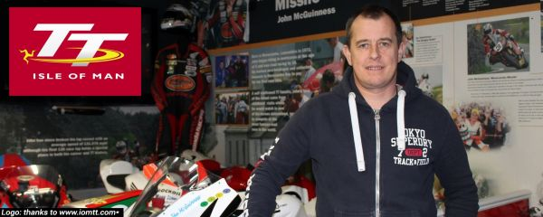 John McGuinness on a recent visit to the Isle of Man TT exhibit at the museum