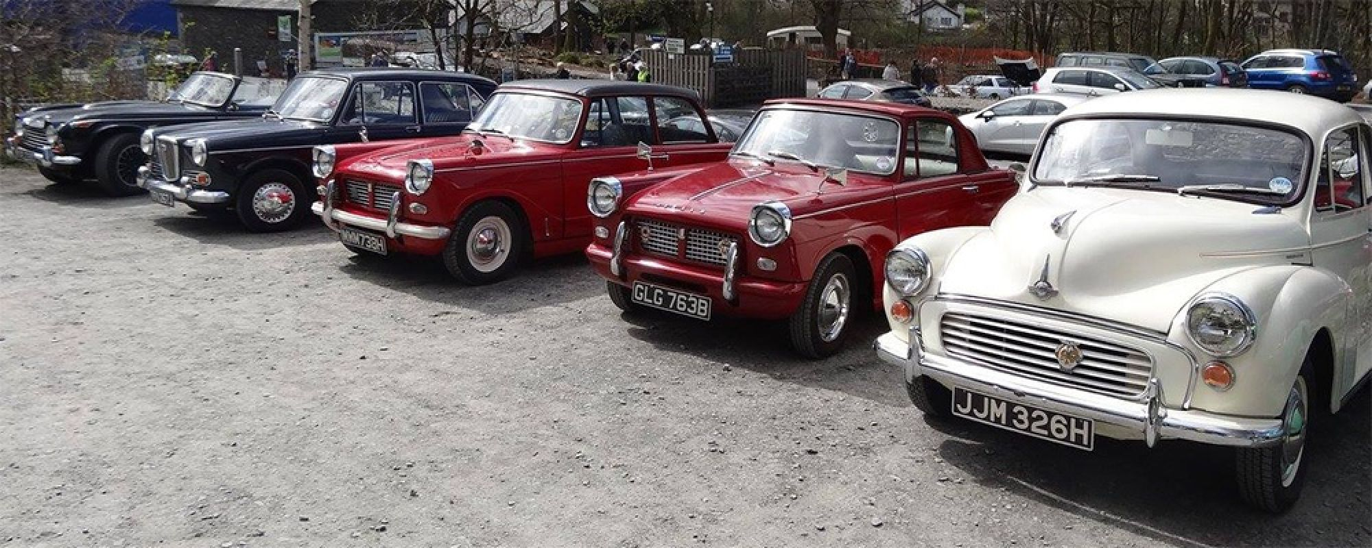 Classic cars attending a previous 'Classic Drive & Ride in Day' at the museum