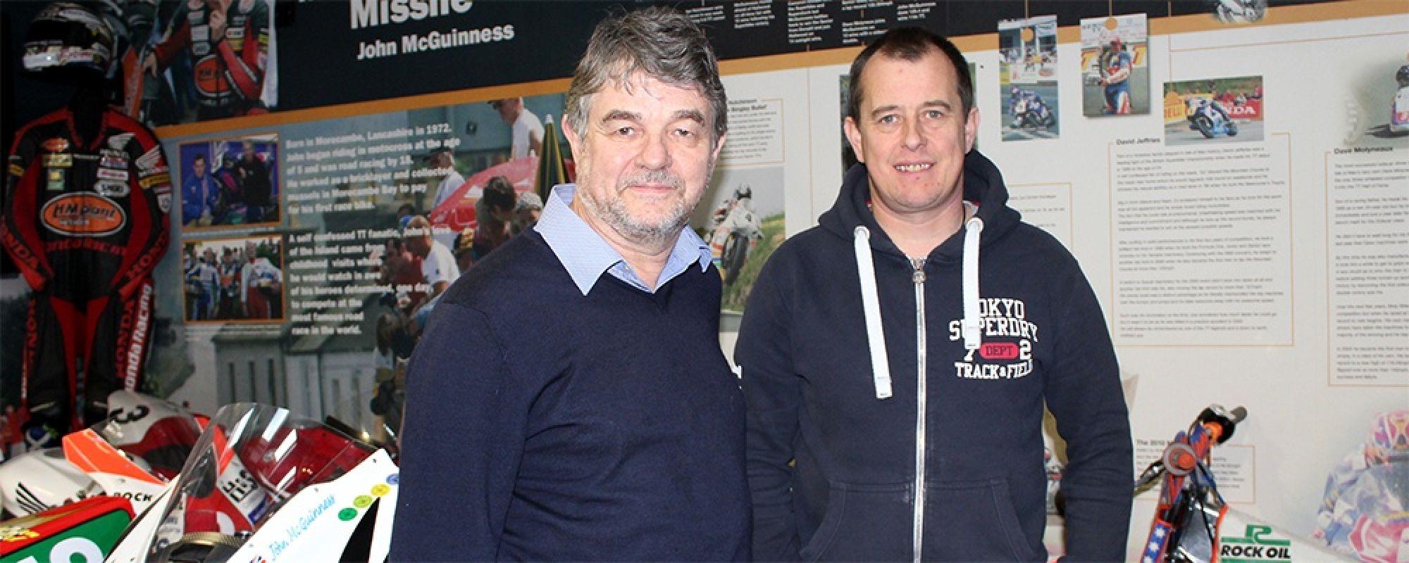 Dennis Frost & John McGuinness visit the museum