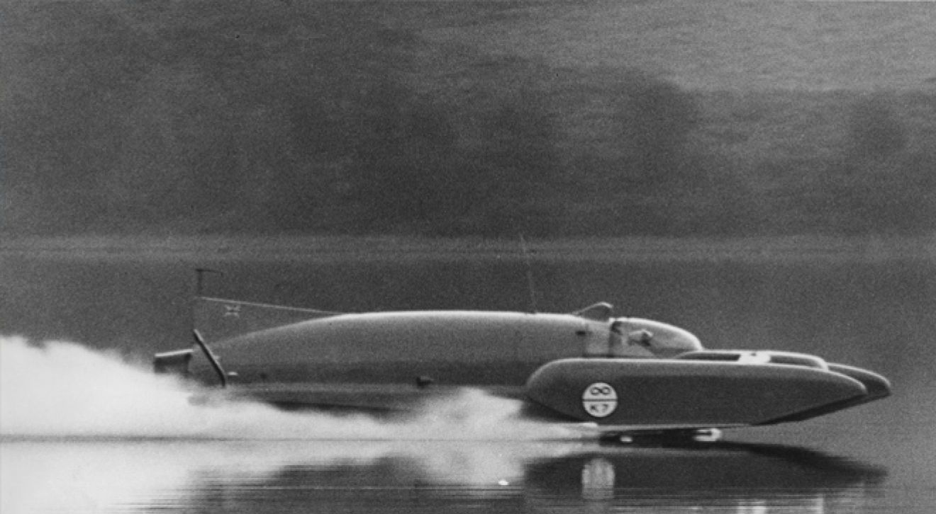Donald Campbell broke seven world water speed records between 1955-64.