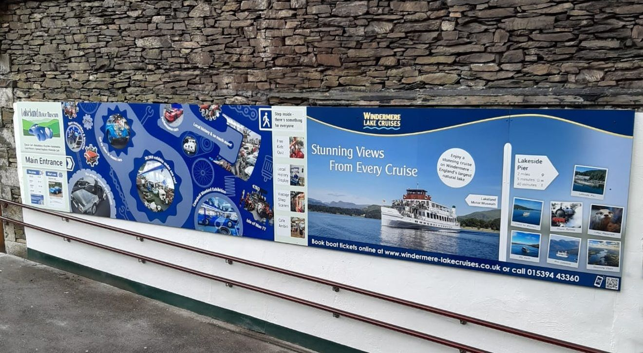 Our new signage at the museum