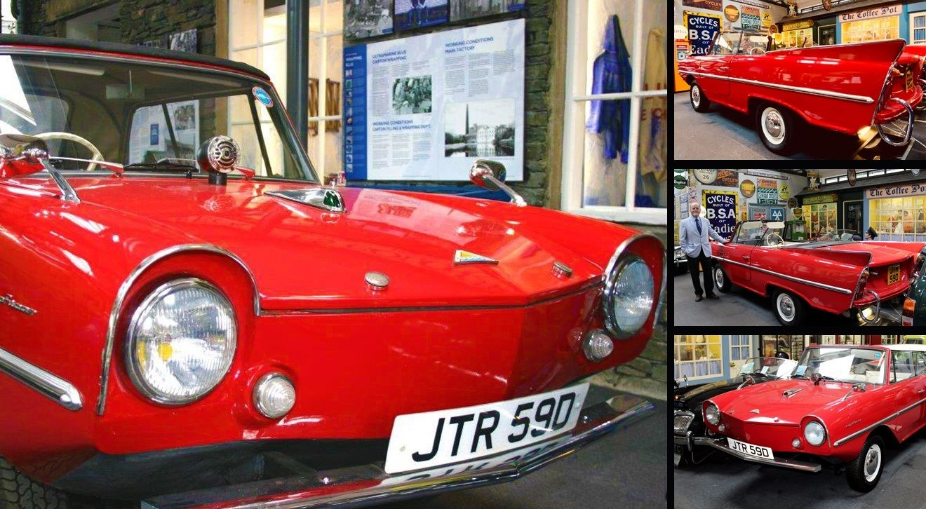 A montage of Amphicar images from the museum.