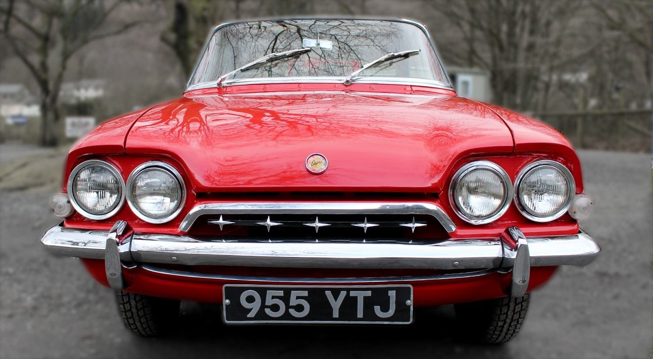The front grille of the 1962 Ford Consul Capri