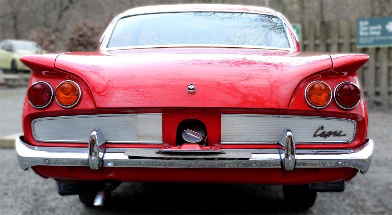 The rear bumper of the 1962 Ford Consul Capri