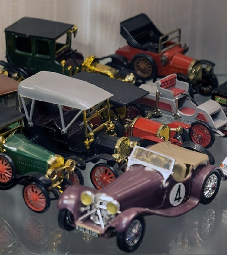 A selection of automobilia on display