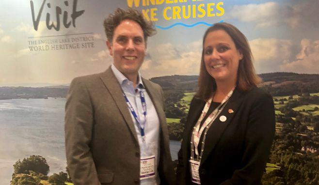 Sales & Marketing Director Jennifer Cormack, with team member James Ventham