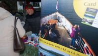 Windermere Lake Cruises team at Christmas Celebration with free residents' discount cards