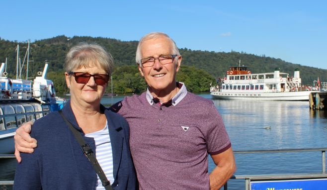 A couple at Bowness Pier