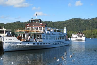 Steamers depart from Bowness on Yellow Cruise