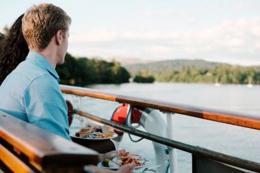 Relax and enjoy the ever-changing view with your meal
