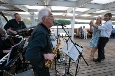 Live music on-board from our resident band