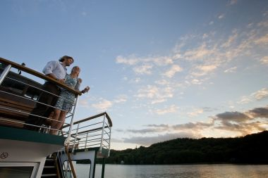 This cruise is held on historic steamer Swan or Teal