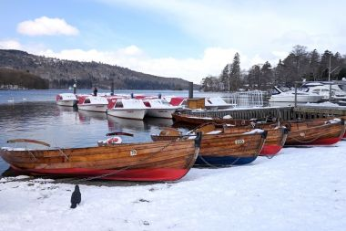 Motor boats can be hire during winter at Bowness Pier