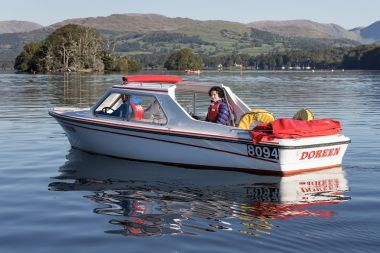 Self-drive motor boat hire at Bowness or Ambleside piers
