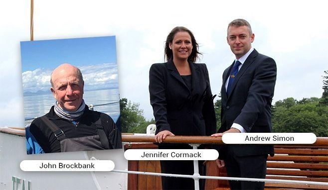 John Brockbank, Andrew Simon and Jennifer Cormack